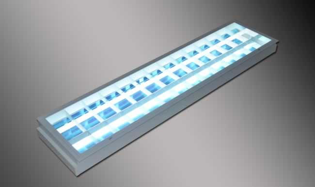 Recessed Mounted Reflectalouver 12x48 1x36Watts