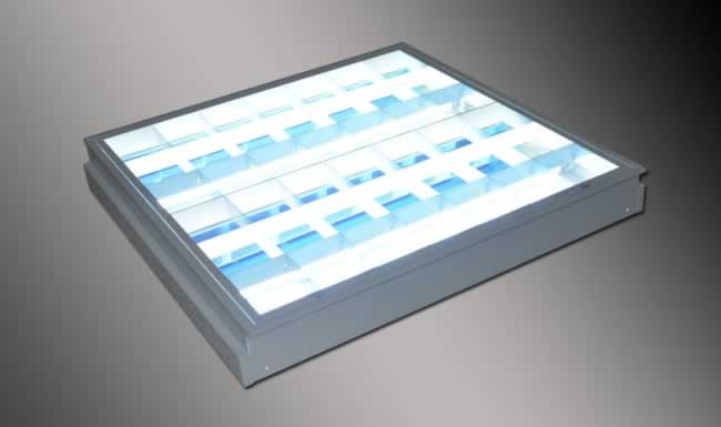 Recessed Mounted Reflectalouver 24x24 2x18Watts