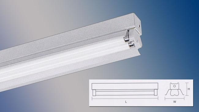 Fluorescent Industrial Double Y Reflector Inside