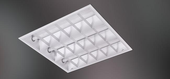 Fluorescent Reflectalouver Recessed Mounted 24x24 3x18 Watts