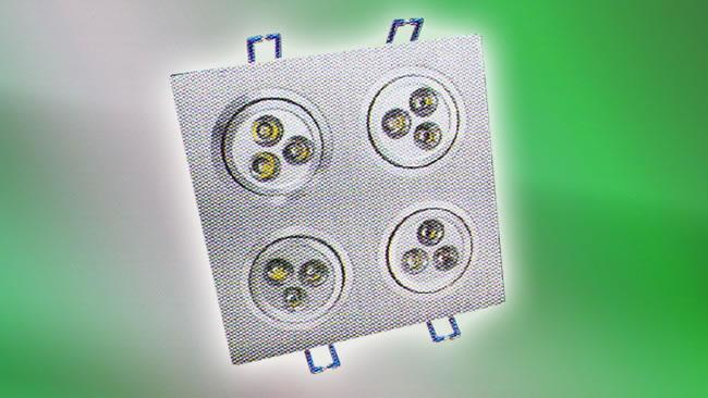 LED Recessed Square Ceiling Light (HALO-CGX-004)